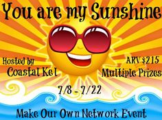 Hey there sunshine!  Come enter to win some great prizes in the You are My Sunshine Giveaway