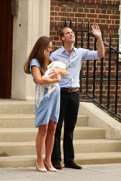 The Duke and Duchess of Cambridge say thank you