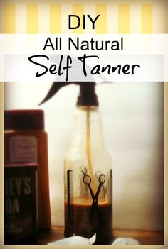I recently came up with this all natural self tanner recipe that you can make at home, with ingredients right out of the kitchen. The best thing about it is it actually works!