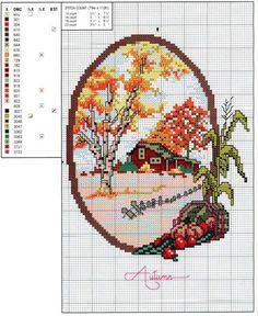 Осенняя пора: 45 простых схем для вышивки - Ярмарка Мастеров - ручная работа, handmade