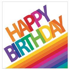 Rainbow Birthday Napkins- Rainbow Party, Rainbow Birthday, Rainbow of Hope, Rainbow Party Supplies, Happy Birthday Messages, Happy Birthday Quotes, Happy Birthday Images, Happy Birthday Greetings, Birthday Gifs, Birthday Clipart, Rainbow Theme, Rainbow Birthday, Rainbow Colors