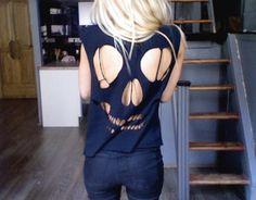 t-shirt cut out: skull design