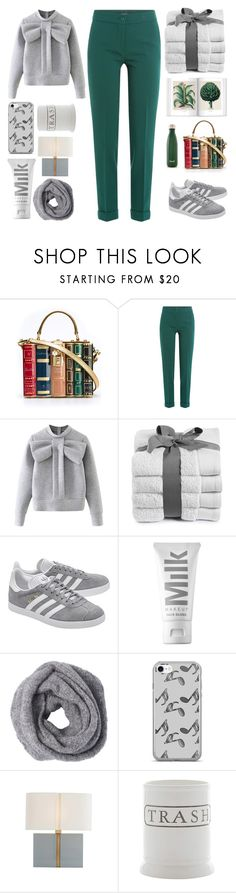 """Lay"" by njihana ❤ liked on Polyvore featuring Dolce&Gabbana, Etro, WithChic, adidas Originals, MILK MAKEUP, Music Notes, Pottery Barn and S'well"