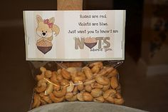 """FREE squirrel bag topper for Valentine's Day on my other blog!  """"Nuts About You"""""""