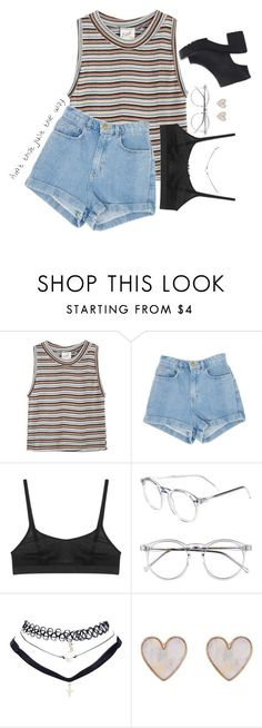 """""""i like pigs"""" by adriannaslokis ❤ liked on Polyvore featuring Edith A. Miller, Araks, Wildfox, Wet Seal and New Look"""