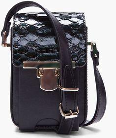 Lanvin   Python Skin Camera Bag
