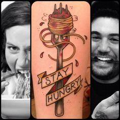 Food Tattoos!: Spaghetti by Richard Smith