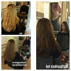 #van blond naar donker #stylist Yaiza #hairpoint #redken