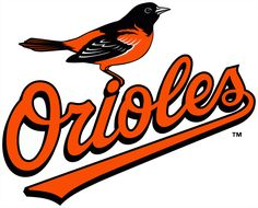 Baltimore Orioles Primary Logo (2009) - An Oriole perched on Orioles scripted in black and orange