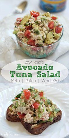 Low-carb Avocado Tuna Salad | Keto, Paleo, Whole30 | thefitfork.com