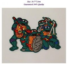 Set teenage mutant ninja turtles Iron on Embroidered Patch Patches High Quality DIY Badge Applique *** Continue to the item at the image link. Iron On Embroidered Patches, Teenage Mutant Ninja Turtles, 7 And 7, Appliques, Badge, Craft Projects, Image Link, Sewing, Crafts