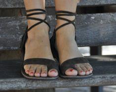 Leather sandals | Etsy DE