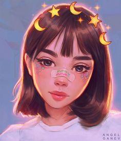 39 Ideas anime art drawings for 2019 Cartoon Kunst, Cartoon Art, Pretty Art, Cute Art, Drawing Faces, Cute Drawings, Digital Art Girl, Digital Art Anime, Anime Art Girl