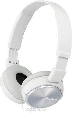 Sony MDR-ZX310, White наушники  — 985 руб. —  30-мм мембраны полностью передадут мощь динамического звука. Можно использовать с плеером Walkman® и другими MP3-плеерами. Прочный и легкий плоский двусторонний Y-образный шнур длиной 1,2 м, который не будет путаться с другими проводами