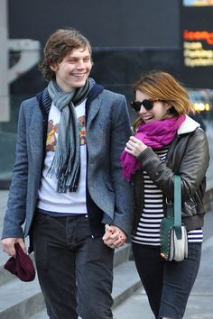 Evan Peters Photos: Emma Roberts and Evan Peters Together in NYC