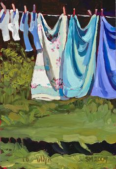 """Towels and Socks in Doe Bay"" 2009, by Susan Mustard"