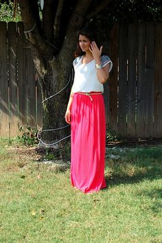 Note to self: find hot pink maxi skirt