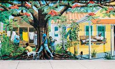 Bahama Village mural (pt. 1) | Fuji GF670 (film) | #jhunterphoto