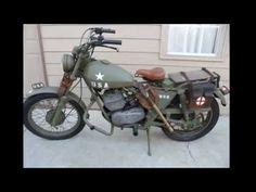 1976 AMF Harley Davidson Aermacchi SS250 WW2 Military style motorcycle.