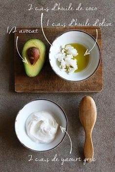 La recette du meilleur masque pour cheveux maison.