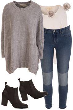 Grey Day Outfit includes boho bird, JAG, and Verali - Birdsnest Online Shop