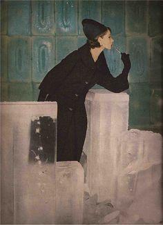 LIGHTS ON FUR   Gleb Derujinsky for Harper's Bazaar, 1959