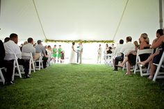 Megan and Nick's Lush Tented Ceremony in New York