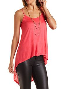 Caged-Back High-Low Tank Top: Charlotte Russe