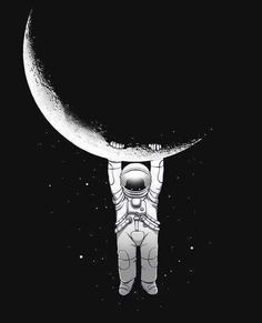 on the dark side of the moon. on We Heart It
