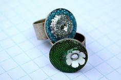 Make resin rings...these are stunning!