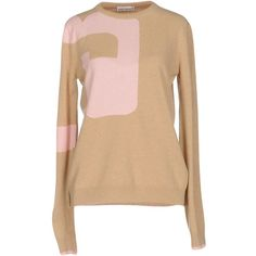 Paco Rabanne Jumper ($375) ❤ liked on Polyvore featuring tops, sweaters, beige, long sleeve jumper, jumpers sweaters, jumper top, lightweight sweaters and long sleeve sweater