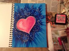 Heart Art Journal Page - Angela Weber