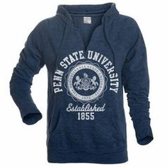 Penn State University Womens Burnout Hoodie Navy - www.NittanyOutlet.com  Penn State College 9334bc6eb
