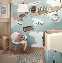 Niedliche Babyzimmer Wandgestaltung-Inspirierende Wandgestaltung Ideen Cute baby room with an inspirational wall design … Baby Bedroom, Baby Boy Rooms, Nursery Room, Kids Bedroom, Kids Rooms, Nursery Ideas, Beige Nursery, Bedroom Ideas, Theme Bedrooms