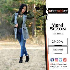 👉KAZAYAĞI CEPLİ GRİ YELEK   ------------ 👉 Kampanya ve indirim için sitemize üye olmayı unutmayın ------ #kadın #online #outlet #marka #hediye #bayangiyim #trikokazak #kazak #elbise #kombin #ceket #bayan #gri #yelek #griyelek