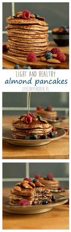 almond pancakes perfect to start the day! almonds+egg+yogurt. no flour!