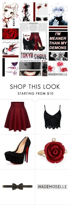"""Tokyo Ghoul"" by edithtoth ❤ liked on Polyvore featuring Christian Louboutin, Oscar de la Renta, Dorothy Perkins, GET LOST and Rosanna"