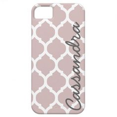 Custom Name on Lilac Moroccan Trellis iPhone 5 Covers