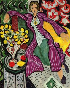 "silverstarlite:  ""Woman in a Purple Coat""    1937 Artist:   Henri Matisse (via silverstarlite)"