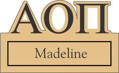 Alpha Omicron Pi Cutout Letters