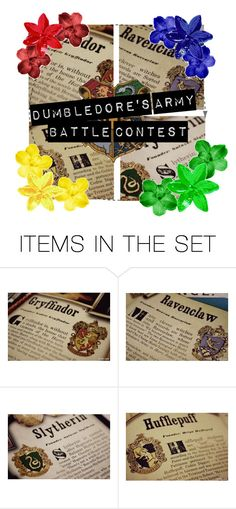 """""""Dumbledore's Army Battle Set Icon"""" by rather-be-surfing ❤ liked on Polyvore featuring art"""