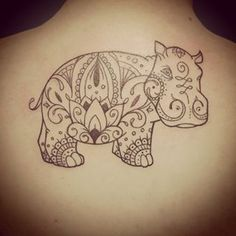 Make it a laughing hippo tattoo ideas тату, татуировки, мехенди. Tattoo Addiction, Ink Addiction, Life Tattoos, Cool Tattoos, Tatoos, Henna Animals, Hippo Tattoo, Mehndi Designs, Tattoo Designs