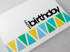 Handmade birthday card £4.00 from Paper Daisy Cards 2 on Folksy. Die cut with dies from Papertrey Ink. Suitable for men, males, son, brother, dad, uncle