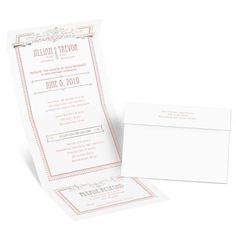 Elegant Elements Foil Seal and Send Invitation | Invitations by Dawn