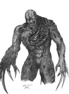 Resident Evil Zero: Proto-Tyrant by on DeviantArt Resident Evil Tyrant, Art Corner, Metal Gear Solid, Fantasy Character Design, Fantasy Characters, Video Games, Horror, Lion Sculpture, Anime