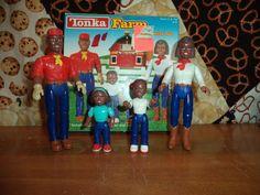 Vintage 1990s Tonka Farm Family Set Figures Playset Preschool Family of 4 #Tonka