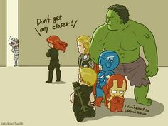 The Avengers vs. Ultron Funny Marvel Memes, Dc Memes, Marvel Jokes, Marvel Dc Comics, Marvel Heroes, Baby Avengers, The Avengers, Avengers Memes, Young Avengers