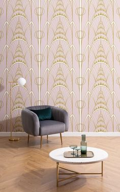 Inspired by the iconic architecture of the Chrysler building, this Pink Art Deco Chrysler Architectural Pattern Wallpaper Mural will help create a sophisticated theme in your home. This ornate wallpaper takes the recognisable shapes from the top of the building and turns it into a bespoke repeat pattern, creating a statement art deco design. Available in a few trending shades, this stylish wallpaper will help introduce a sense of opulence and glamour, famously seen in The Great Gatsby…