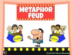 Metaphor Feud Powerpoint Game - perfect lesson for starting or ending a teaching unit on figurative language