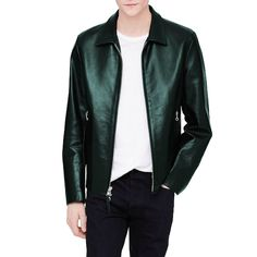 GOLDEN BEAR CAFE RACER LEATHER JACKET | CLUB MONACO SALE + PROMO CODE